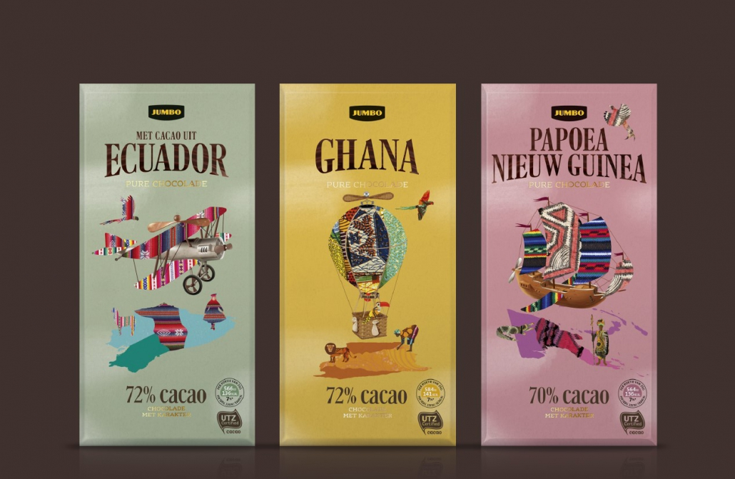 Guts&Glorious - Packaging Design Agency, JUMBO - Single origin chocolade